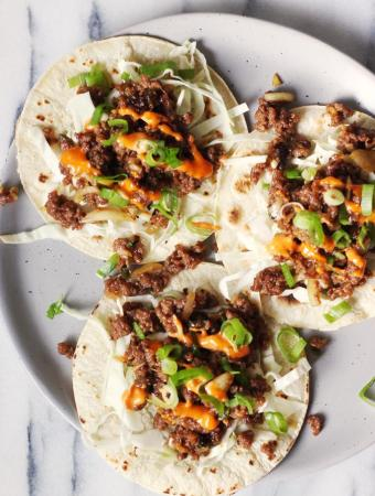 Korean Style Spicy Beef Tacos Recipe