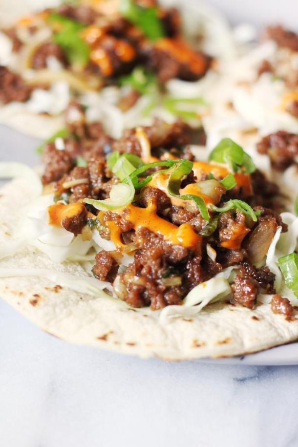 Korean Style Spicy Beef Tacos Recipe