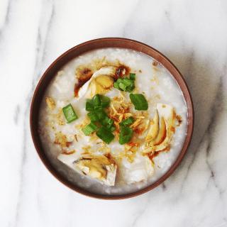 Pork & Shrimp Congee (Rice Porridge) Recipe