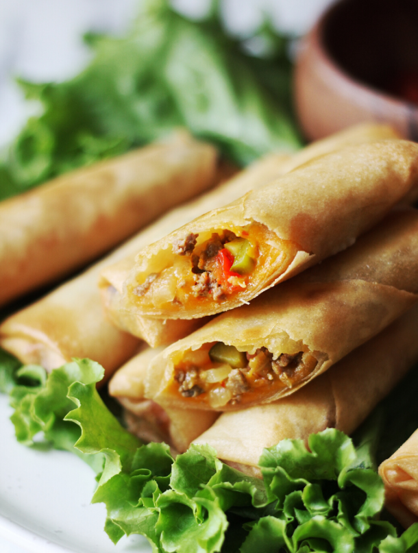 Cheeseburger Spring Rolls Recipe