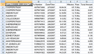 Excel Results