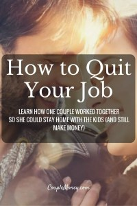 """Ready to quit your job and start your own business? Steve Chou, Founder of My Wife Quit Her Job and co-founder of Bumblebee Linens, shares how you can build a business from home. <div class=""""smart-track-player-container  stp-color-60b86c-EEEEEE"""" data-url=""""""""http://traffic.libsyn.com/couplemoney/CM_S3E2_How_to_Quit_Your_Job_and_Still_Make_Money.mp3"""""""" data-background_color=""""#EEEEEE"""" data-download=""""true"""" data-color=""""60b86c"""" data-paid=""""true""""  data-social=""""true""""  data-social_twitter=""""""""true""""""""  data-social_facebook=""""""""true""""""""  data-social_gplus=""""""""true"""""""" data-speedcontrol=""""true"""" data-get=""""true"""" data-uid=""""pAiIdSLu"""" data-download_id=""""53d727682bed06c21983dbcd891a0d22"""" ></div> Starting a Business from Home"""