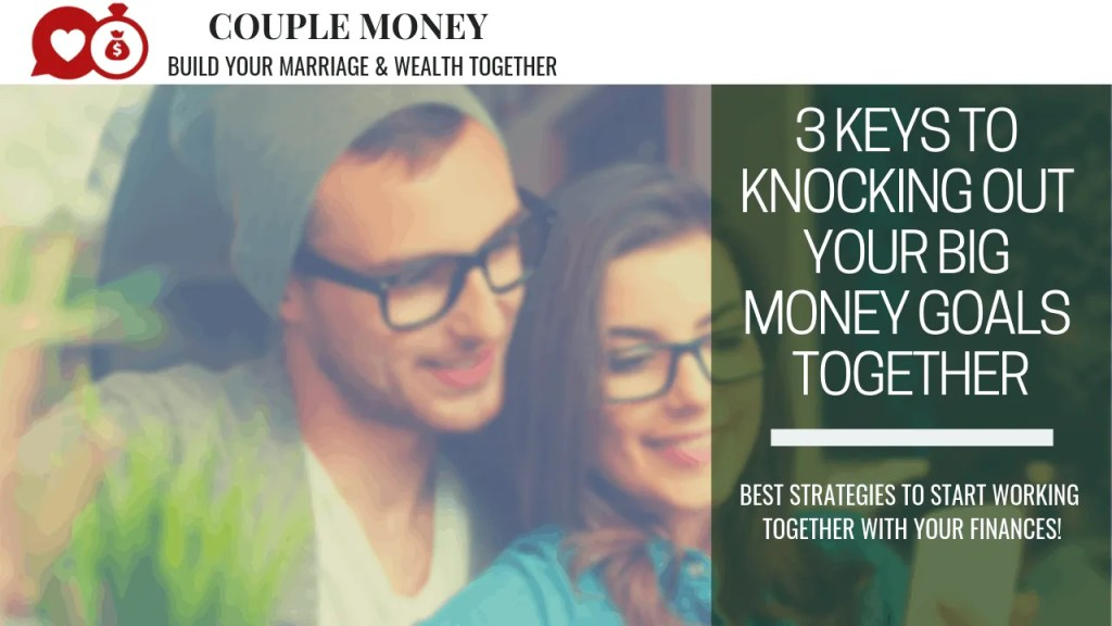 Are you guys ready to knock out a big money goal together? Here are three keys you need along with monthly challenges to reach your goals faster! #marriage #goals #money