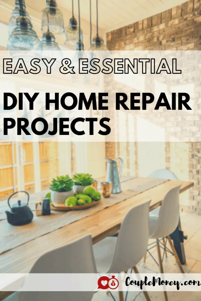 Learn easy and essential DIY home repairs skills and maintenance projects you need to take care of your house and save thousands of dollars! #diy #frugaltips #hometips #realestate #debtfree #family #savingtips #fi #FIRE