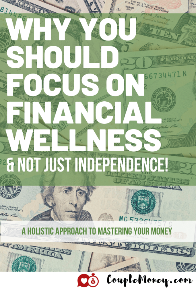 How well is your money working for you? Today we're looking at how personal finance can be more holistic and reflective of what most to you through financial wellness! #financialfreedom #financialwellness