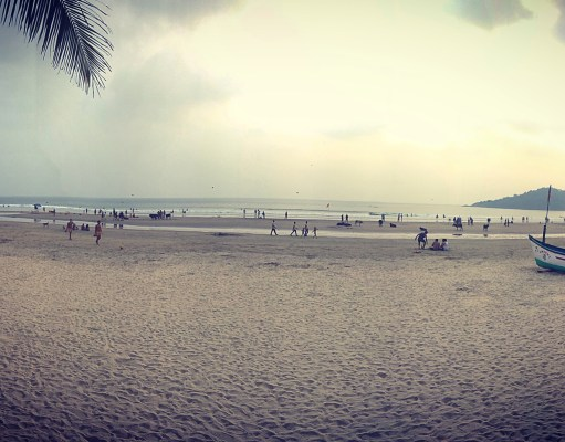 Panoramic shot of the picturesque Palolem beach