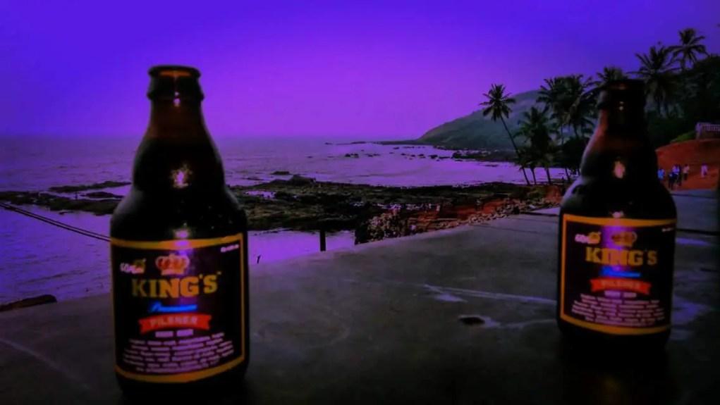 The essence of Goa- Kings beer enjoyed at the Anjuna Beach