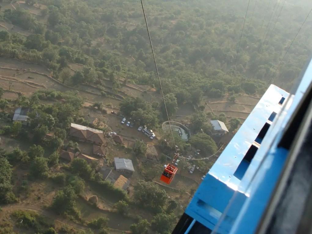 Ropeway at Raigad in Konkan