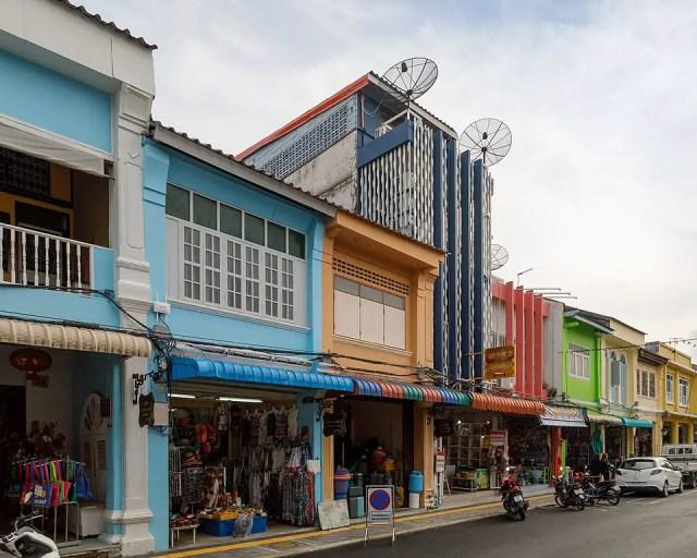 Thalang Road in Phuket Old Town