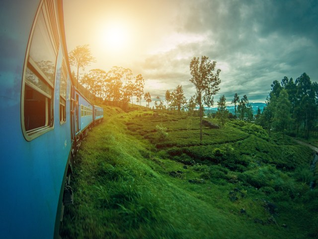 Train journey in Sri Lanka