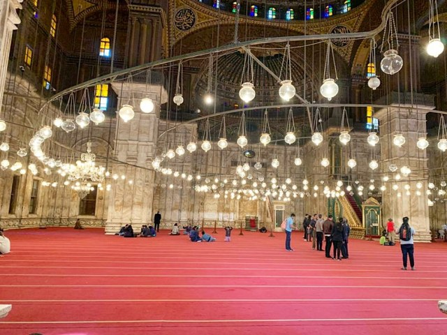 Inside the Mohammad Ali Mosque