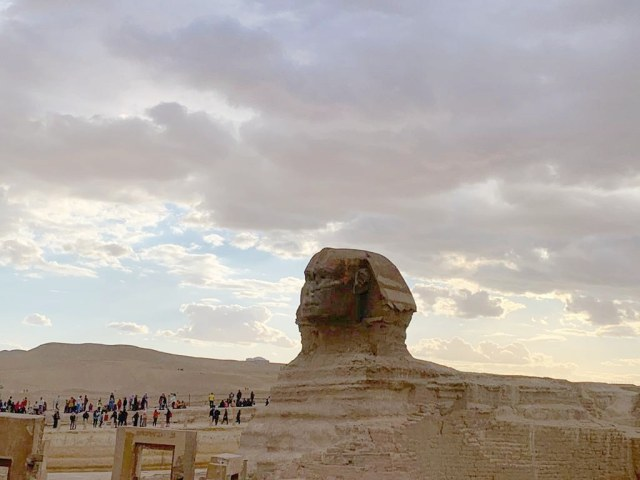 The Sphinx seen from a distance