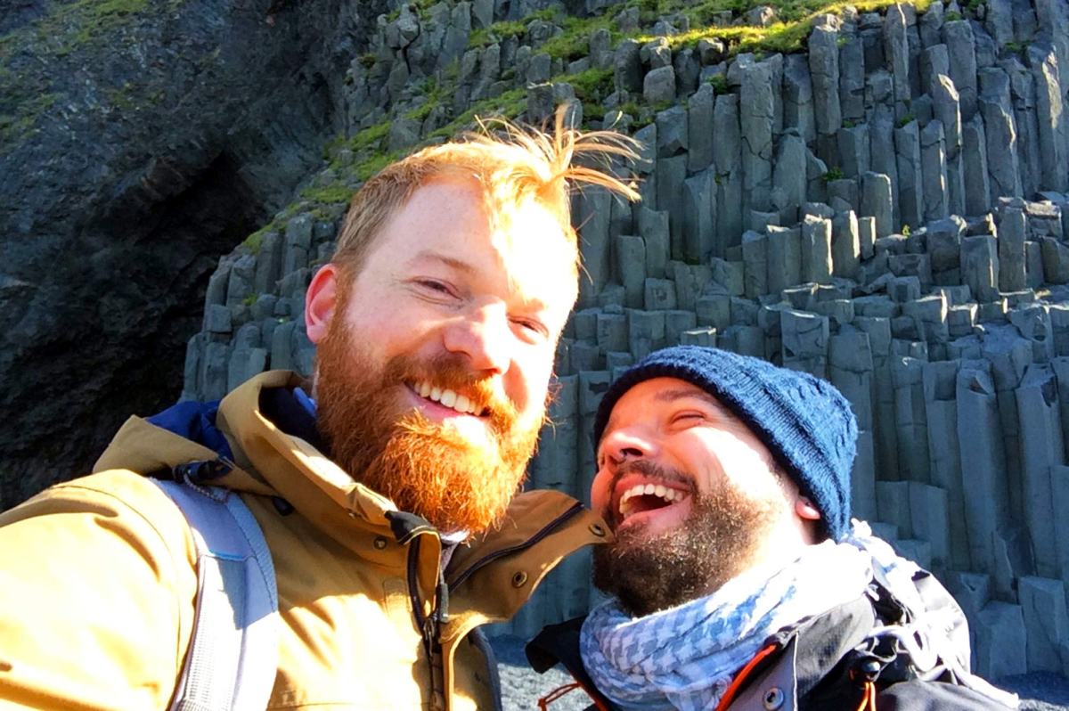 Gay Couple Travel Blogger Karl & Daan | Gay Couple exploring South Iceland Vík © CoupleofMen.com