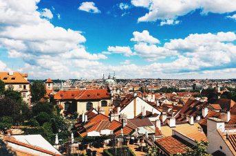 Gay Travel Prague Great Prague View from Restaurant Valoria | Gay Couple City Weekend Prague © CoupleofMen.com