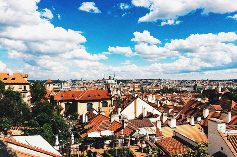 Gay Travel Prague Great Prague View from Restaurant Valoria | Gay Couple City Weekend Prague © CoupleofMen.com
