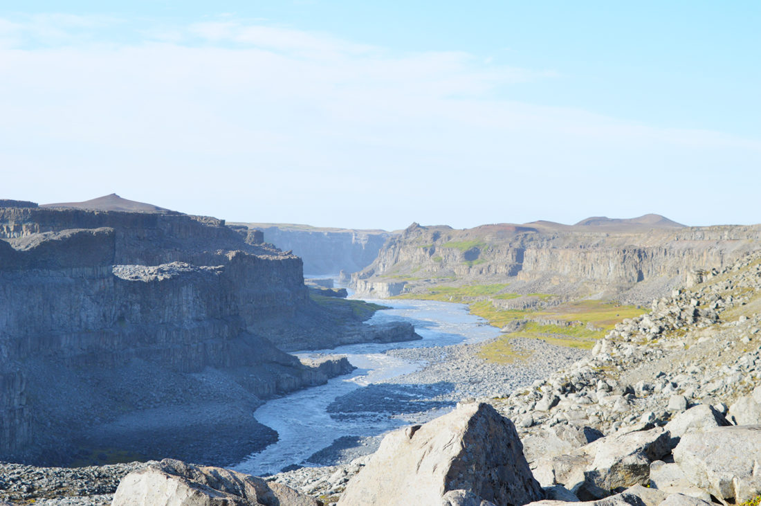 North view of Dettifoss Waterfall Canyon | Gay Couple Road Trip East Iceland © Coupleofmen.com