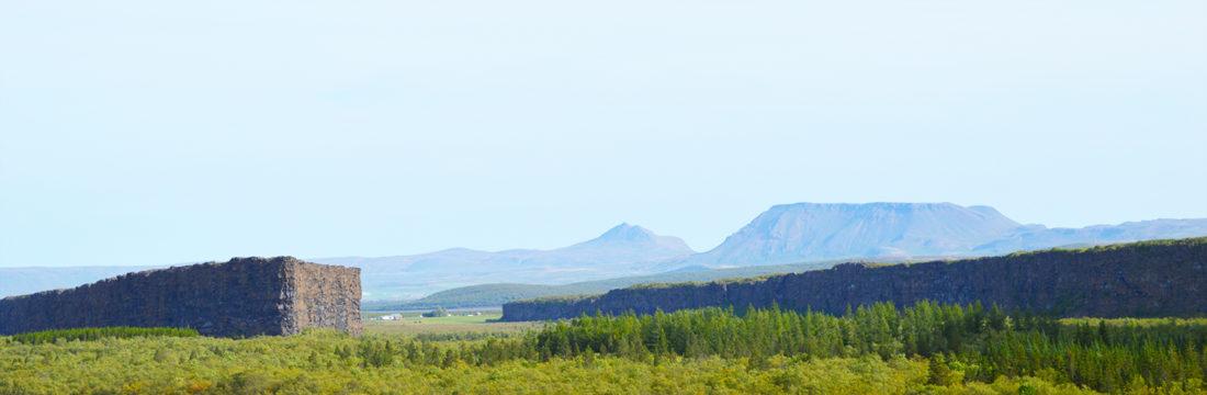 Panorama view Ásbyrgi | Gay Couple Road Trip East Iceland © Coupleofmen.com