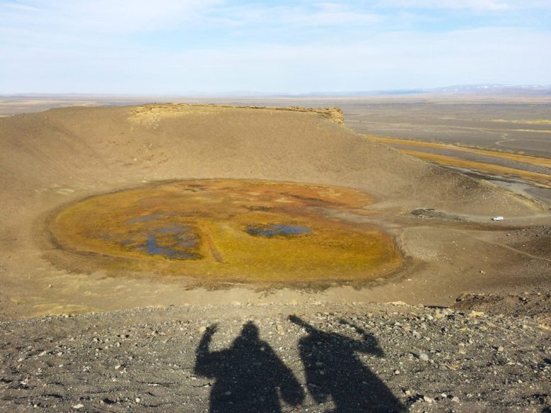 Hrossaborg Volcano Crater | Gay Couple Road Trip East Iceland © Coupleofmen.com