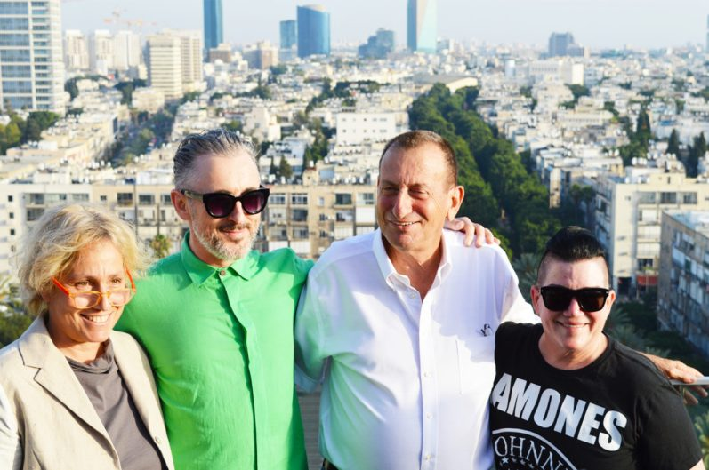 Karl & Daan meeting Alan Cumming, the Major of Tel Aviv and Lea del Aria | Gay Pride Week Tel Aviv 2016 © CoupleofMen.com