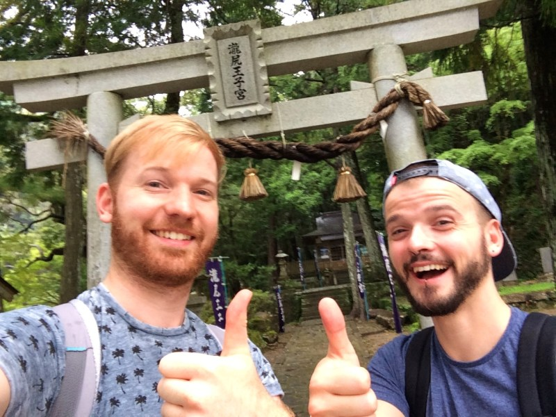 We are ready for our first gay couple pilgrimage in Japan © CoupleofMen.com