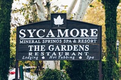 Sycamore The Mineral Springs Resort Spa San Louis Obispo Sign