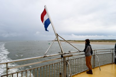 Karl on the Ferry | Dutch Island Vlieland Autumn Weekend © Coupleofmen.com