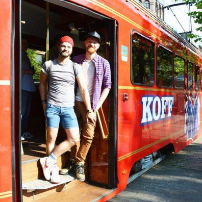 Spårakoff Pub Tram | Gay Couple City Weekend Helsinki Finland © Coupleofmen.com