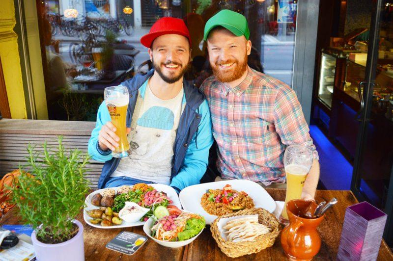 Gay Germany Travel Guide Restaurant LE SU Lange Reihe Hamburg | Gay Couple City Weekend Hamburg Germany © CoupleofMen.com