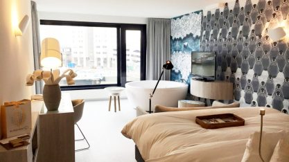 Our Waterfront Spa Room with private sauna and whirlpool   Mainport Hotel Rotterdam Gay-Friendly © CoupleofMen.com