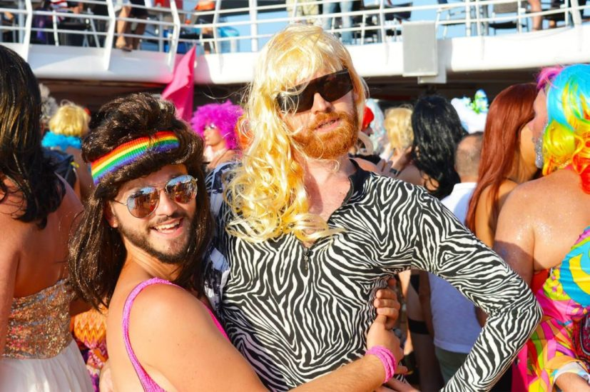 Lady's Night Party | Gay Couple Diary La Demence Cruise © CoupleofMen.com
