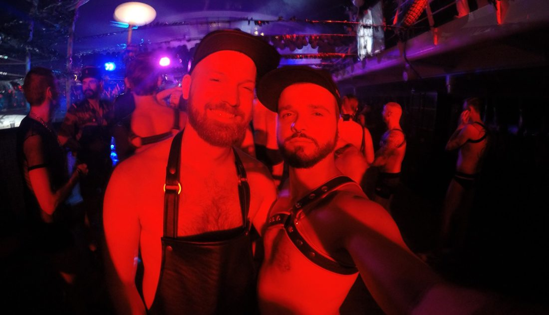 Fetish Party Selfie | Gay Couple Travel Diary The Cruise by La Demence © CoupleofMen.com