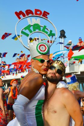 Welcome Party Gay Couple Diary La Demence Cruise © CoupleofMen.com