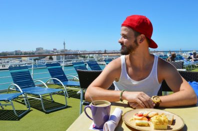 Having a Meal during our Gay Cruise | Gay Men Tips La Demence The Cruise © CoupleofMen.com