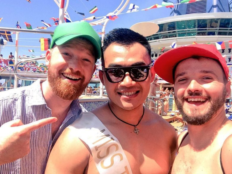 Mister-the-Cruise Election | Gay Couple Diary La Demence Cruise © CoupleofMen.com