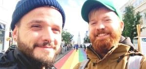 Gay Couple traveling Reykjavik Iceland Road Trip © CoupleofMen.com