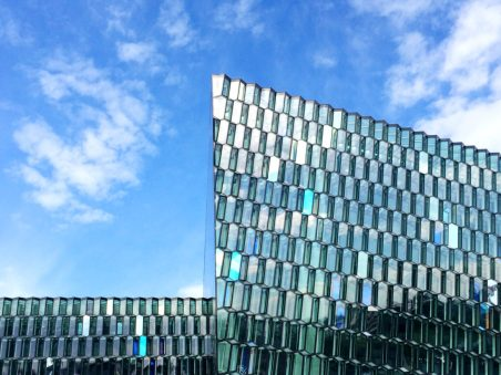 Reykjavik Gay Travel Impressive Harpa architecture | Gay Couple Travel City Weekend Reykjavik Iceland © Coupleofmen.com