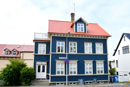 Reykjavik Gay Travel Dark blue house | Gay Couple Travel City Weekend Reykjavik Iceland © Coupleofmen.com