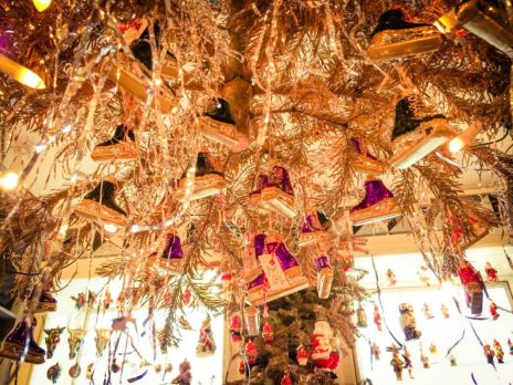 Decorations at Christmas Shop Copenhagen | Gay Travel Guide Tivoli Gardens Copenhagen Winter © Coupleofmen.com