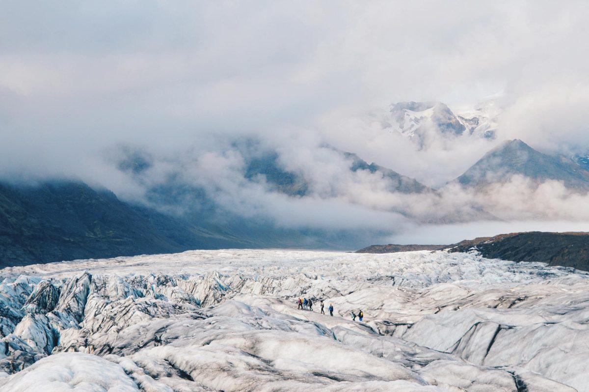 Hiking Svínafellsjökull Glacier at Skaftafell National Park