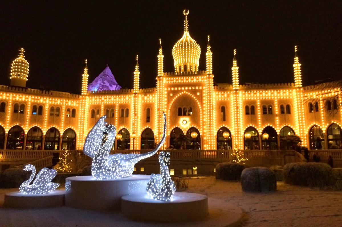 Tivoli Gardens in Winter & Christmas Time