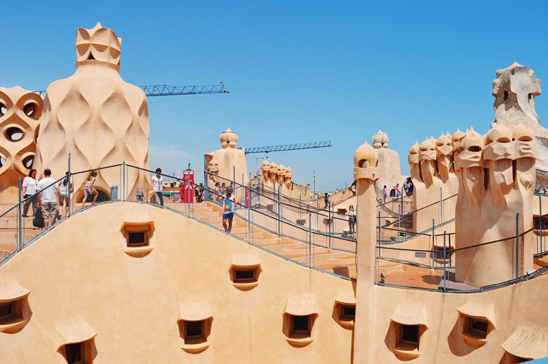 On the roof of the building | Gay Travel Guide Gaudi Architecture Casa Mila La Pedrera © Coupleofmen.com