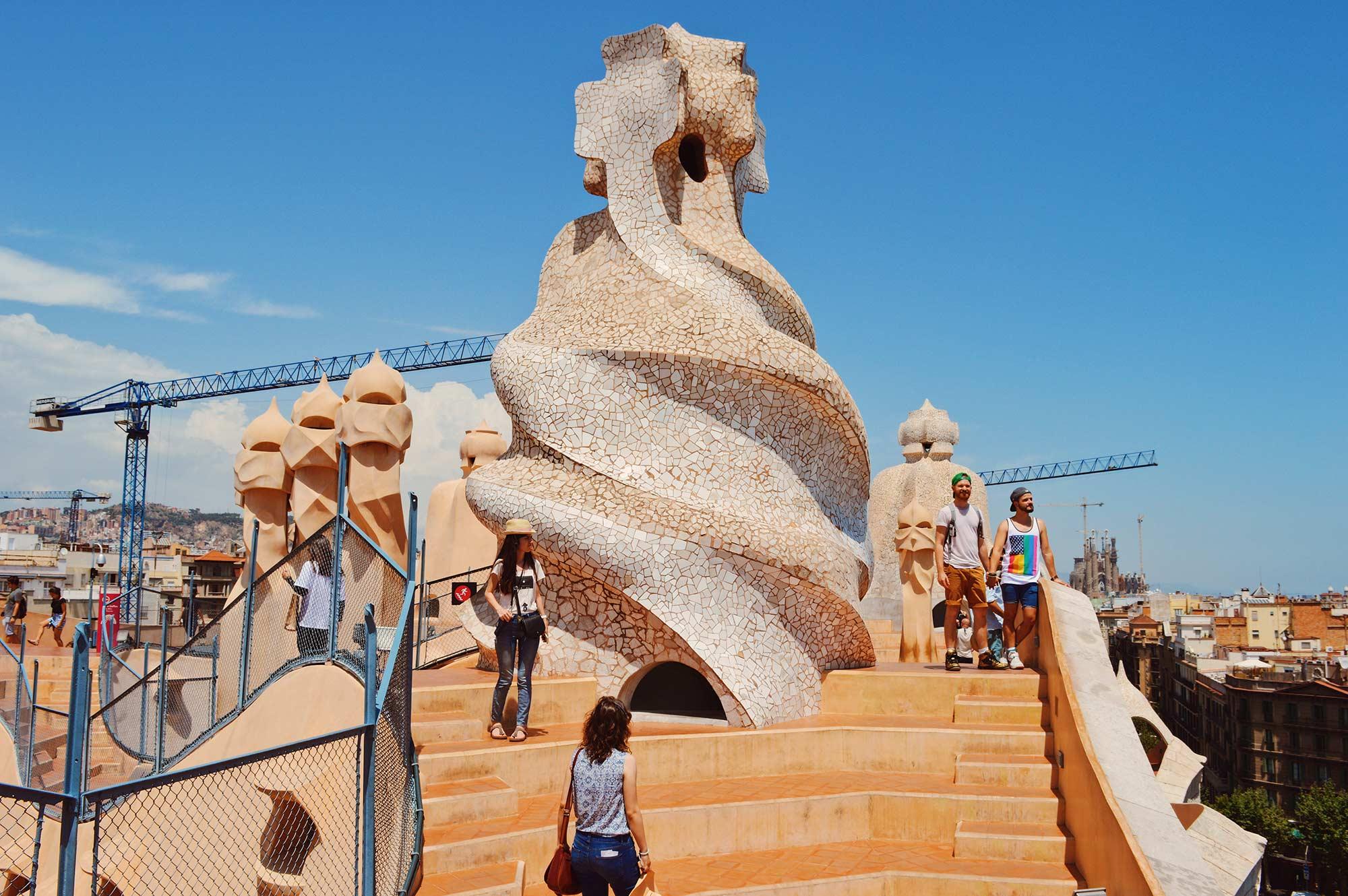 Gay Travel Guide Gaudi Architecture Casa Mila La Pedrera © CoupleofMen.com