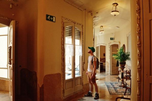 Daan inside the apartments | Gay Travel Guide Gaudi Architecture Casa Mila La Pedrera © Coupleofmen.com.com