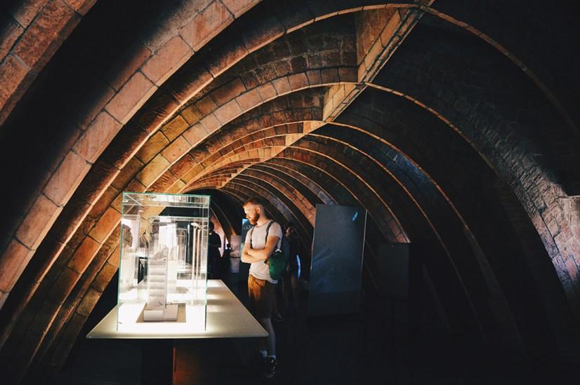 Daan at the roof museum | Gay Travel Guide Gaudi Architecture Casa Mila La Pedrera © Coupleofmen.com.com