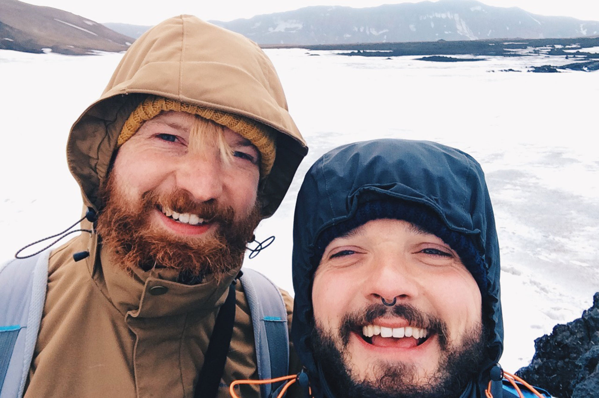 Gay Couple exploring Central North Iceland © CoupleofMen.com