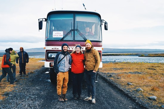 Gay Couple Bus Trip Volcano Askja Central Iceland © CoupleofMen.com