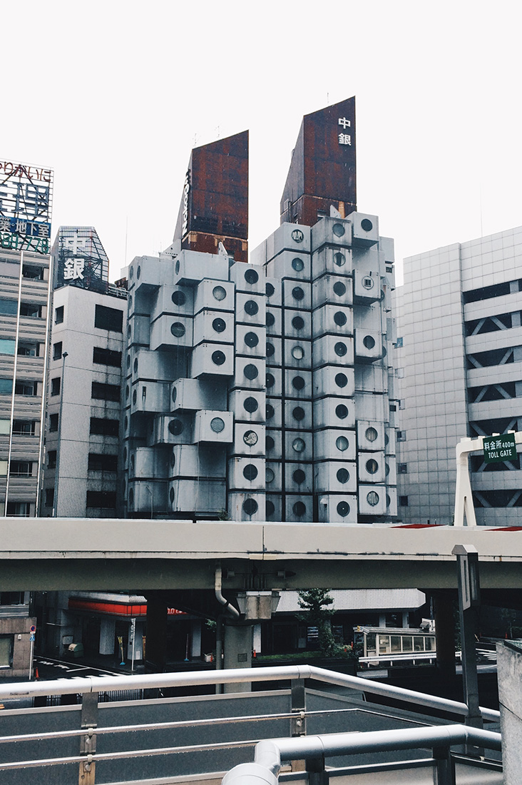A night to remember at Nakagin Capsule Tower in the heart of Tokyo, Japan © CoupleofMen.com