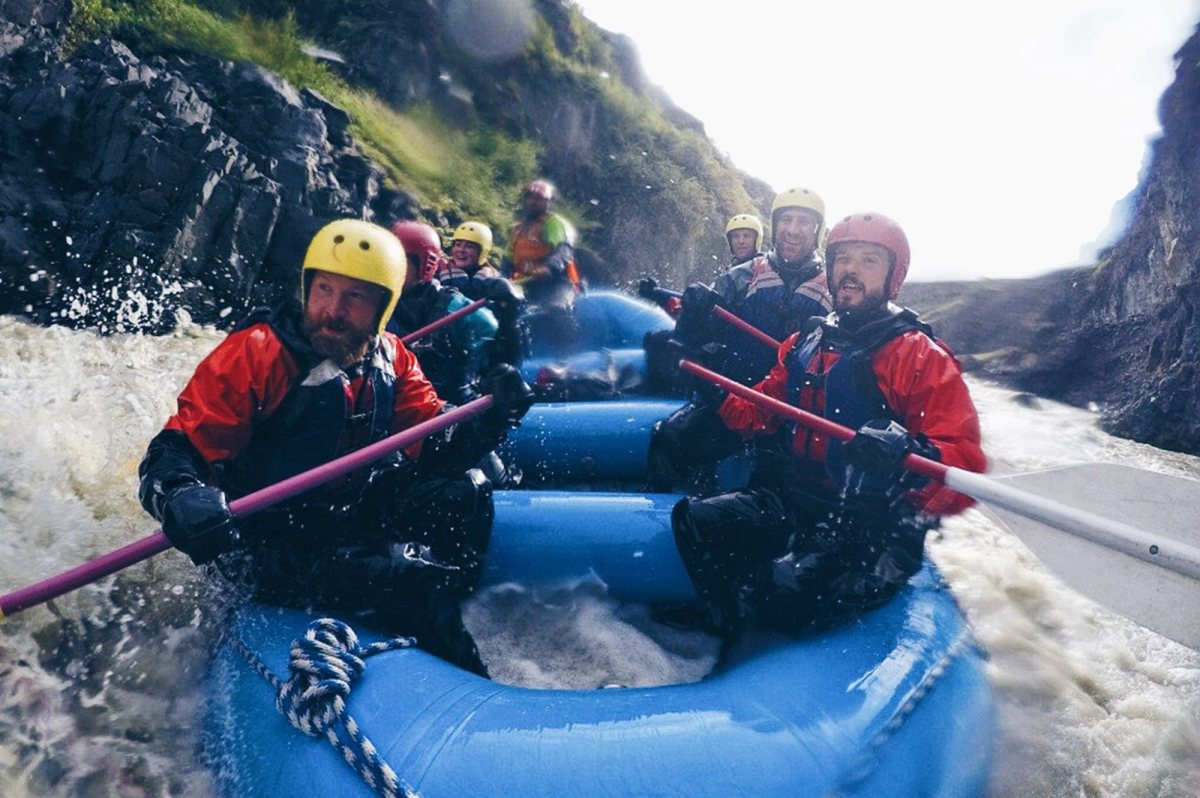 Viking White Water Rafting in Skagafjörður North Iceland