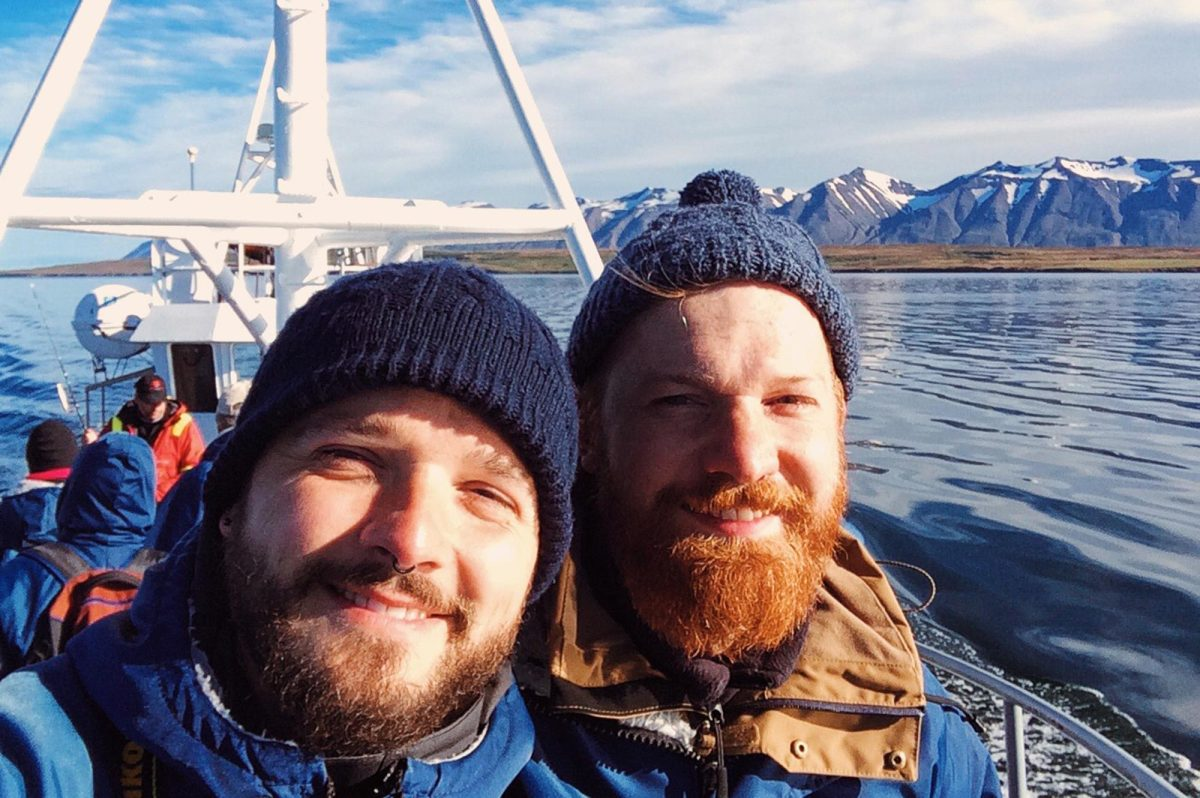 Gay Travel Blogger Couple of Men Humpback Whale Watching in Dalvík (Northern Iceland) © CoupleofMen.com
