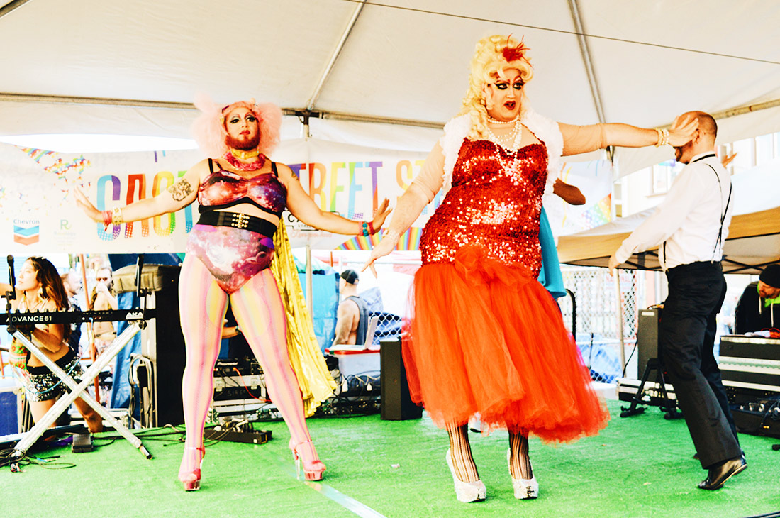 Pictures of Drag Queen performance from Castro Street Stage © CoupleofMen.com